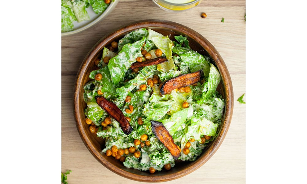 So Vegan's Kale and Carrot 'Bacon' Caesar Salad