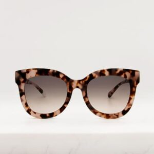 pink tortoiseshell cateye sunglasses