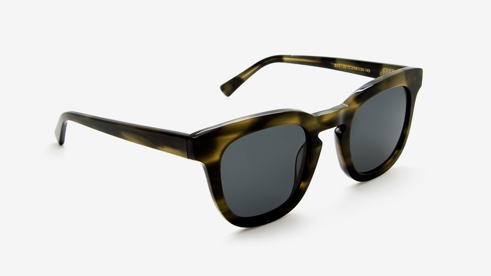 Square green ethical sunglasses