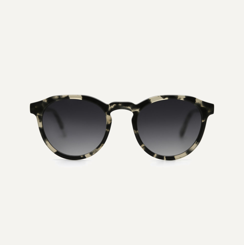 Pala round eco sunglasses with grey lenses