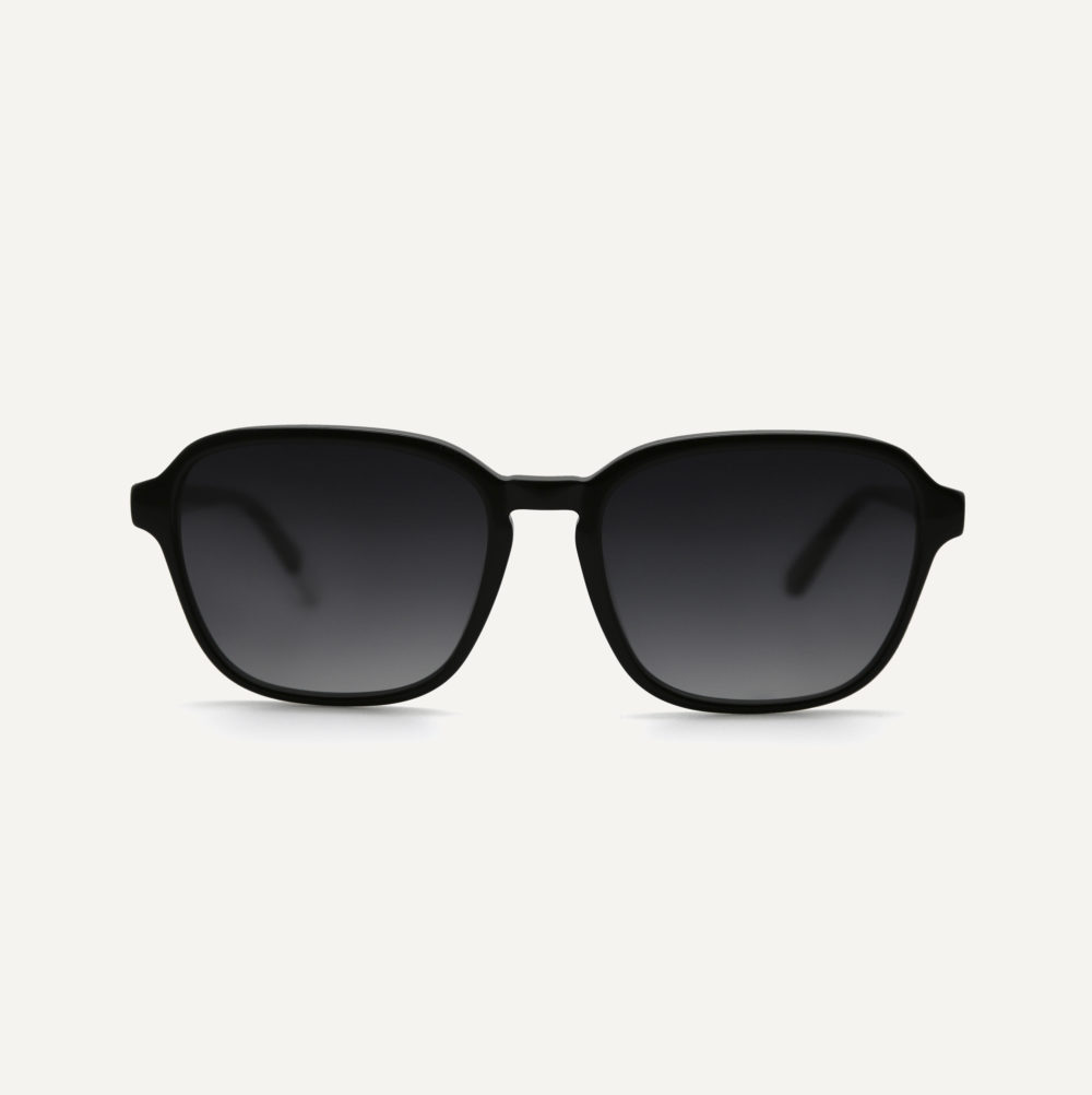 Pala black eco friendly sunglasses with polarised sunglasses