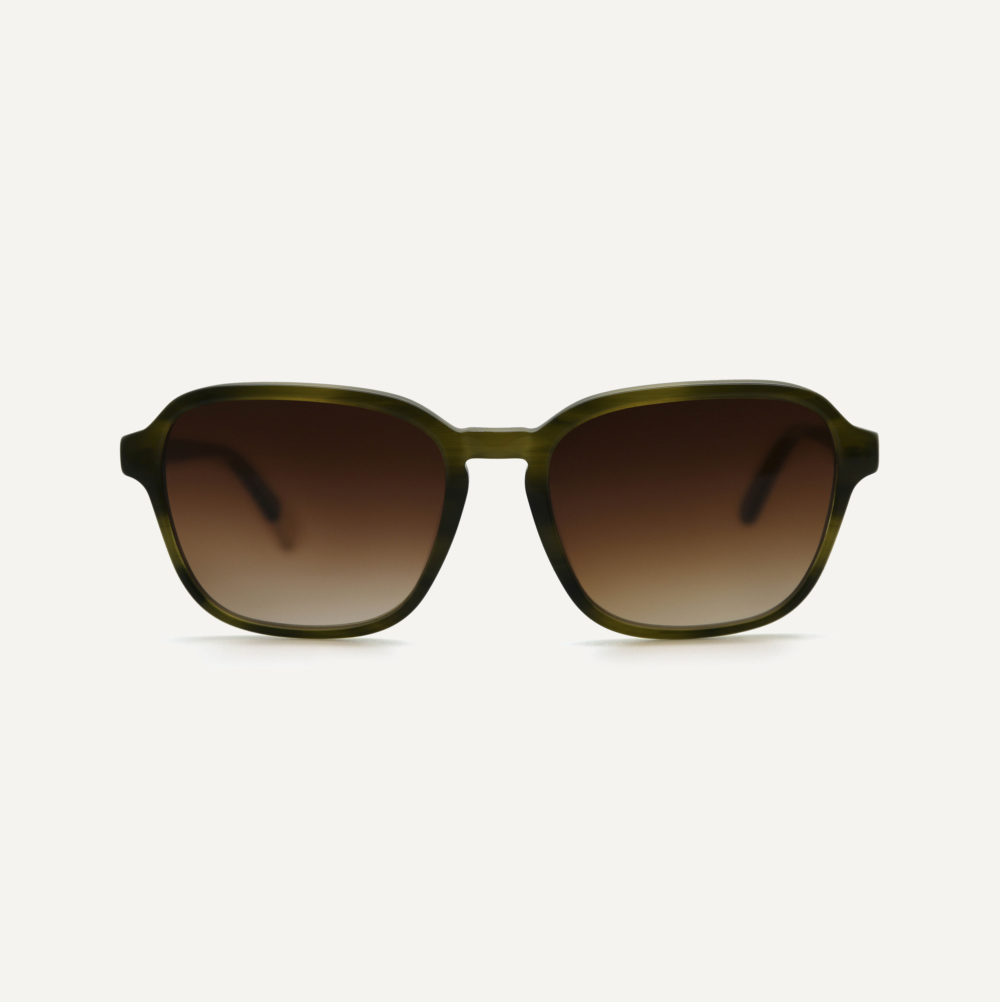 Pala green bio acetate sunglasses with polarised lenses