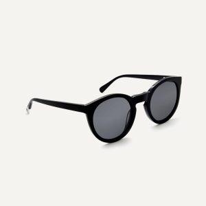 asha recycled black sunglasses angle cutout