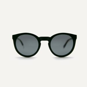 asha recycled black sunglasses front cutout