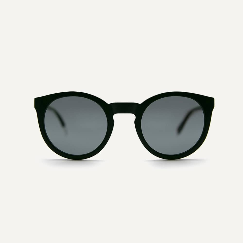 Pala black recycled sunglasses frame with black grey lenses