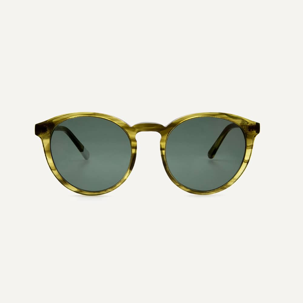 Pala green sunglasses with green lens