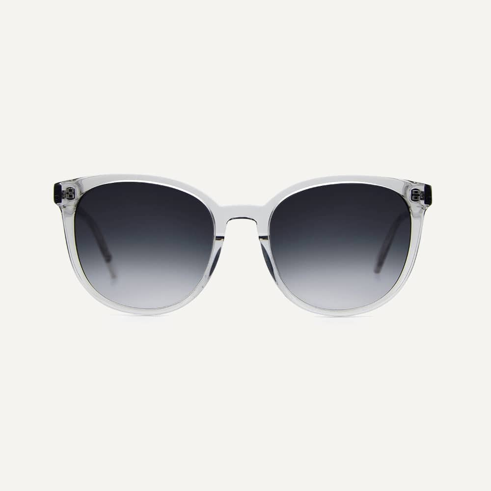 transparent grey sunglasses with grey lenses