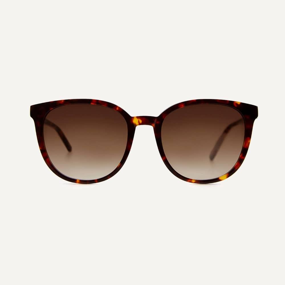 round tortoiseshell oversize sunglasses