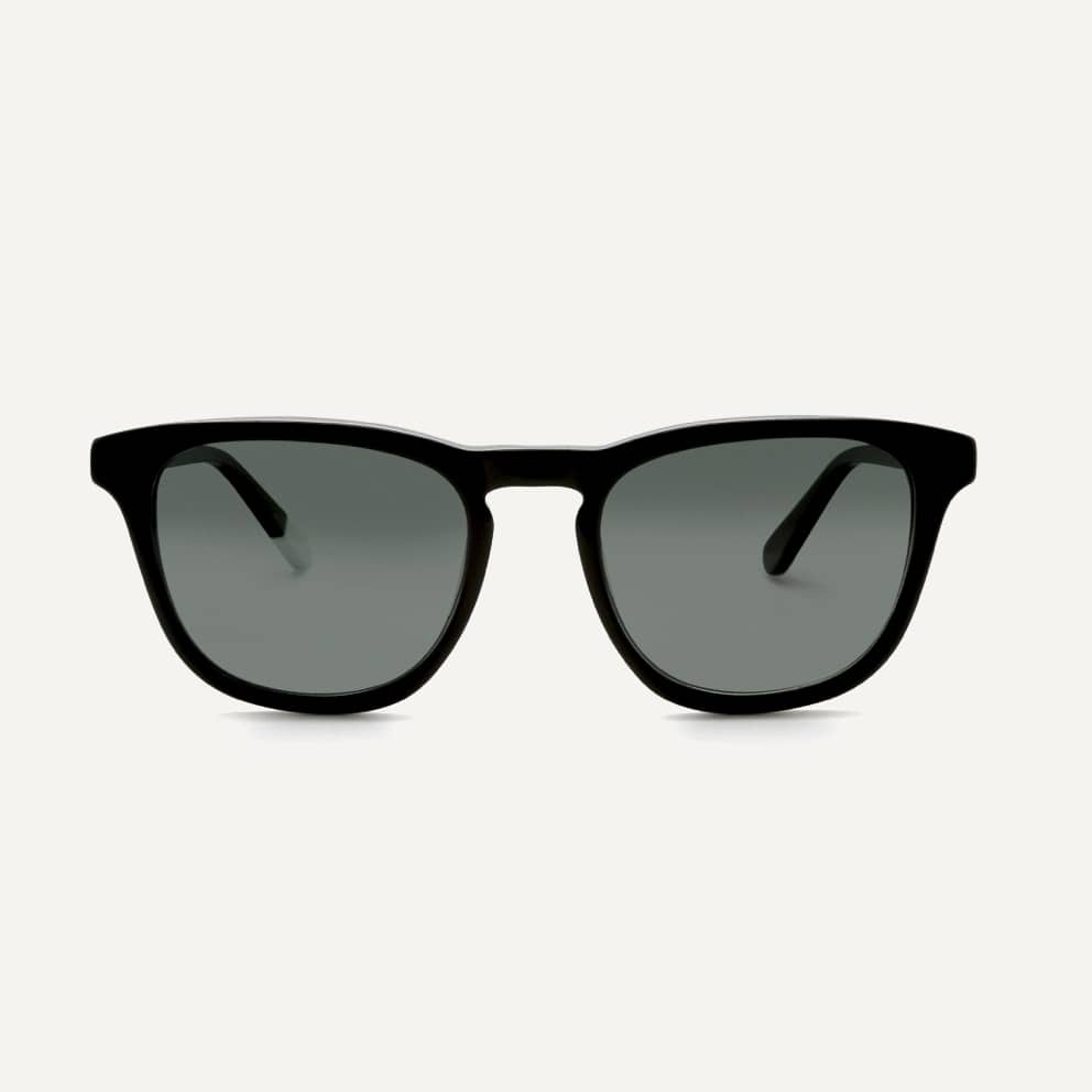 Pala black eco friendly sunglasses with polarised lenses