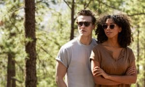 couple wearing eco sunglasses