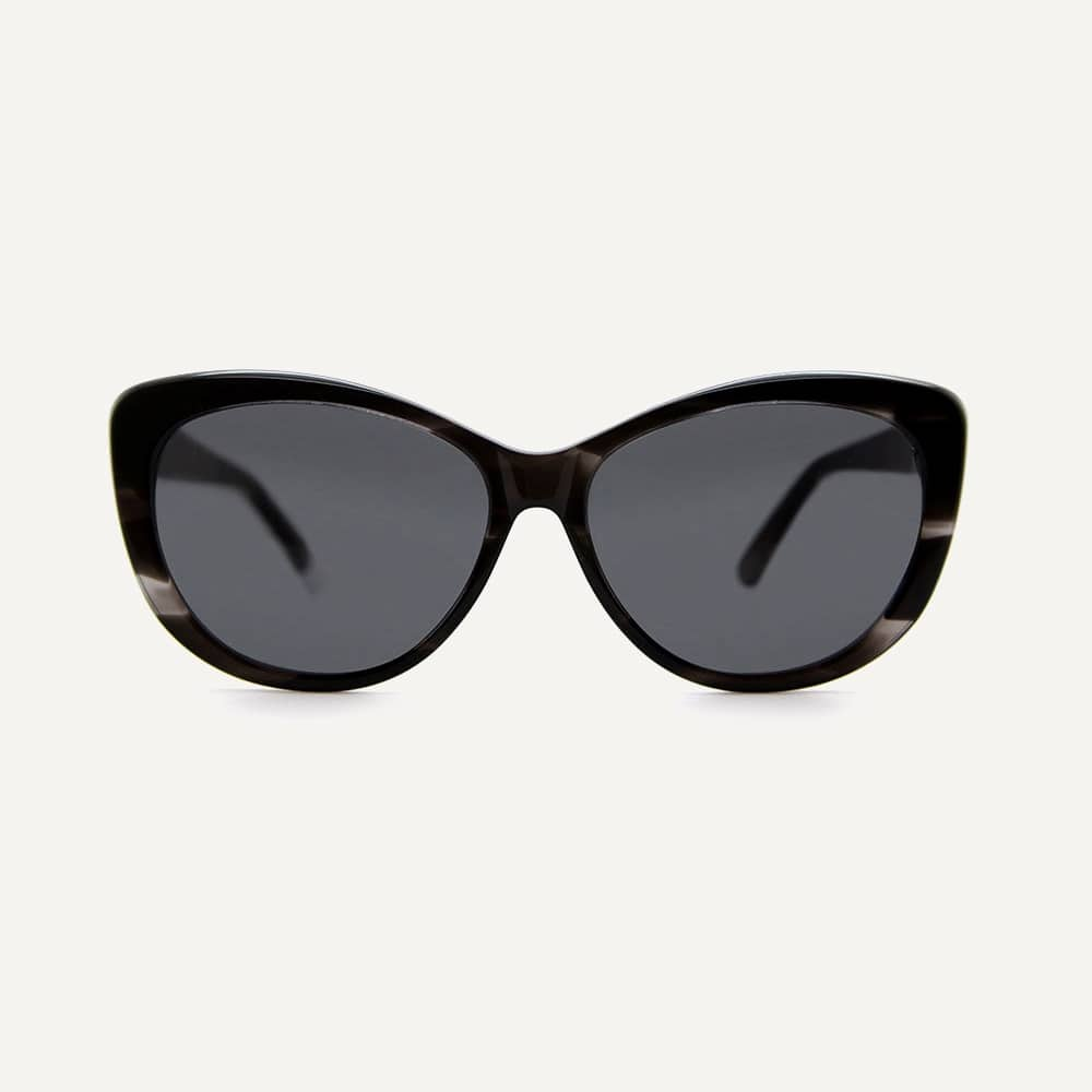 black biodegradable cateye sunglasses