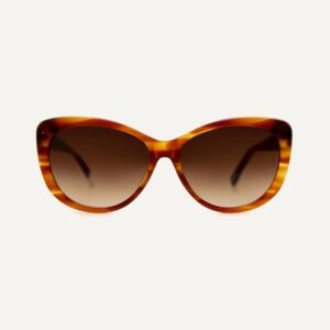 makenna caramel sunglasses front cutout