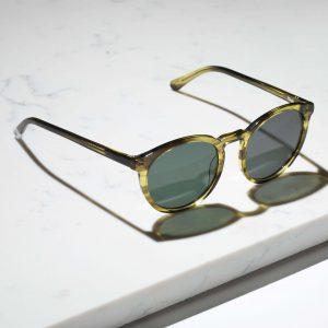 Pala green round sunglasses