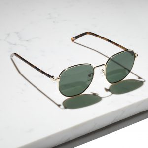 aviator sunglasses with green lenses