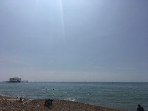 Brighton pier in the summer