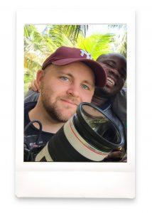cameraman and photographer Justin Hunt