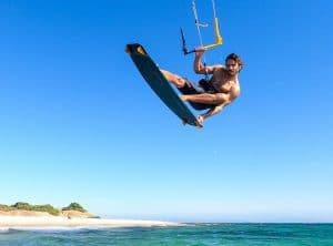 Antoine Auriol kite surfing