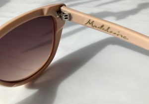close up of pink Pala cateye sunglasses